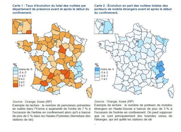 Les déplacements de population avant et après le confinement de mars 2020