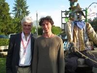 Ici Philippe Bertrand en compagnie de Jaouen Goffi, lauréat 2014 de Caméra des champs