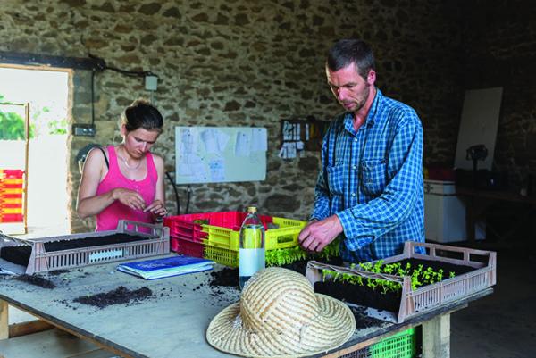 Une ferme collective à Montflours, Mayenne