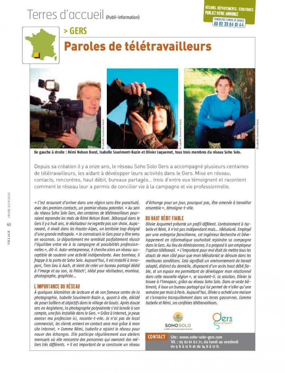 Depuis sa création il y a onze ans, le réseau Soho Solo Gers a accompagné plusieurs centaines de télétravailleurs