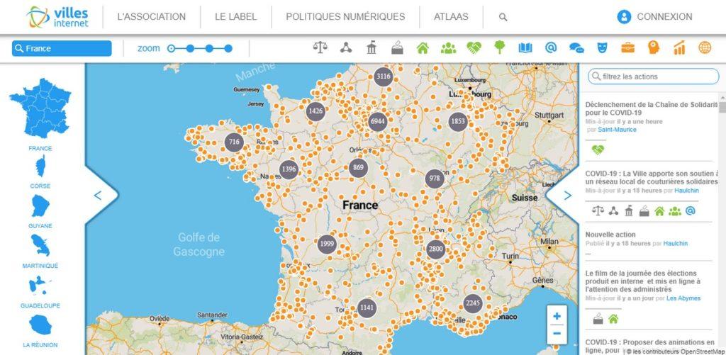 Face à l'épidémie de coronavirus, l'association Villes Internet met en ligne sur son outil Atlaas de nombreuses initiatives locales.