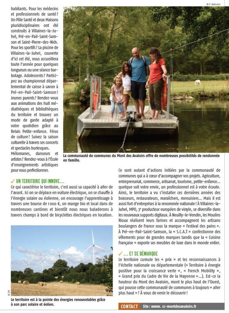 En 2015, la communauté de communes du Mont des Avaloirs faisait partie des premiers territoires à avoir été labelisés « Territoire à Énergie Positive pour la Croissance Verte »