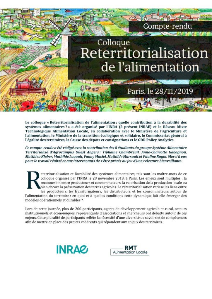 Reterritorialisation de l'alimentation : quelles contributions à la durabilité des systèmes alimentaires ?