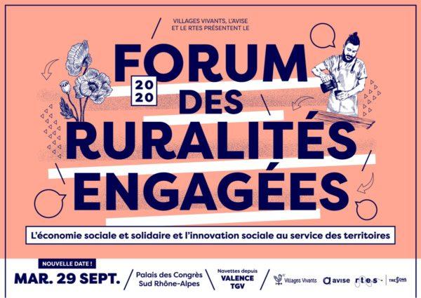 Forum national des ruralités engagées mardi 29 septembre 2020 de 9h à 17h dans la Drôme, dont le magazine Village est également partenaire.