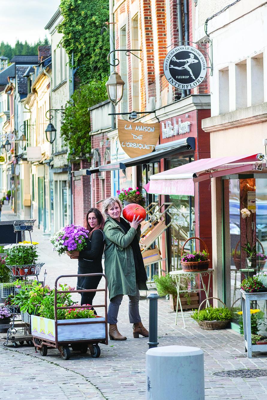 Les commerçantes d'Orbec (Calvados)