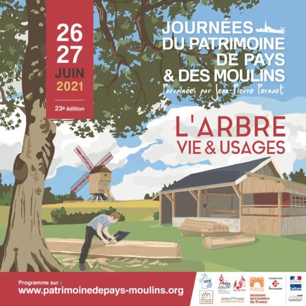 Les inscriptions aux Journées du Patrimoine de Pays et des Moulins (JJPM) sont ouvertes jusqu'au 15 avril 2021.