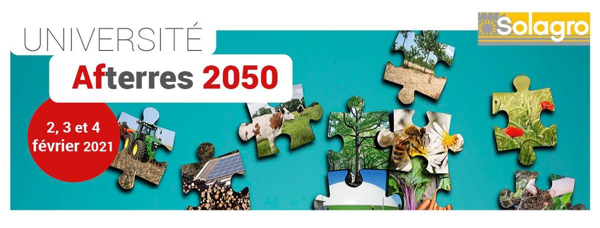 Du 2 au 4 février 2021, Université Afterres2050 : un dialogue de prospectives pour décrypter les scénarios, éclairer les controverses, mobiliser les acteurs.