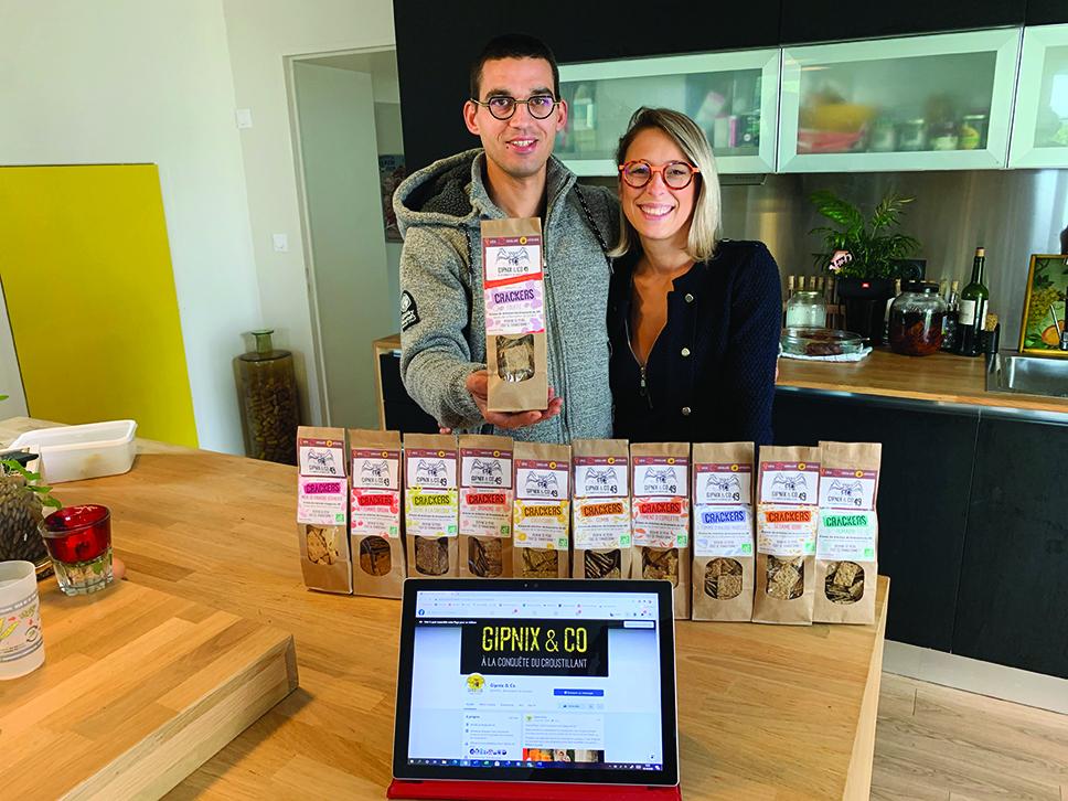 Anaïs Moreau et Pierre Gonnot se sont lancés dans la production de crackers à base de drêches issues de la fabrication de la bière.