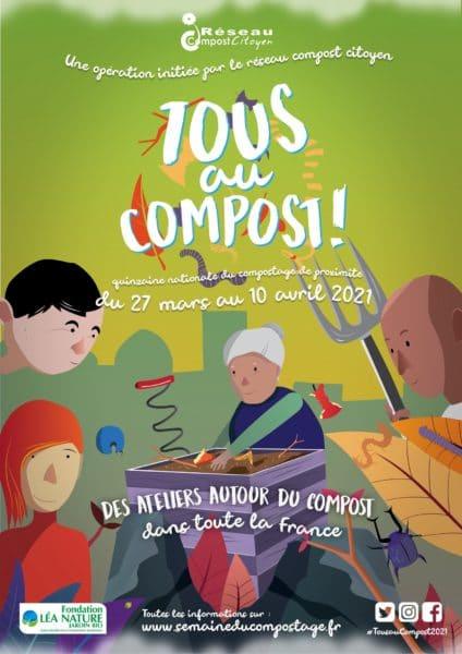 """La 8e édition de """"Tous au compost ! - la Quinzaine nationale du compostage de proximité"""" est lancée ce jour jusqu'au 10 avril sur tout le territoire avec des centaines d'événements sur toute la France."""
