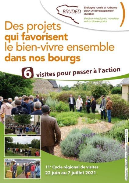 6 visites du 22 juin au 7 juillet, 11e cycle régional breton de visites : « Des projets qui favorisent le bien-vivre ensemble dans nos bourgs.»